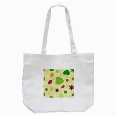 Leaves Pattern Tote Bag (white) by Nexatart