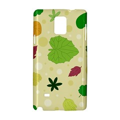 Leaves Pattern Samsung Galaxy Note 4 Hardshell Case by Nexatart
