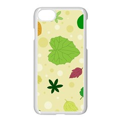 Leaves Pattern Apple Iphone 7 Seamless Case (white) by Nexatart