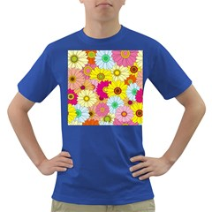 Floral Background Dark T-shirt by Nexatart