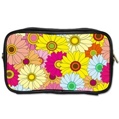 Floral Background Toiletries Bags by Nexatart