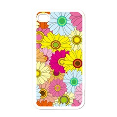 Floral Background Apple Iphone 4 Case (white) by Nexatart