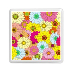 Floral Background Memory Card Reader (square)  by Nexatart
