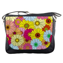 Floral Background Messenger Bags by Nexatart