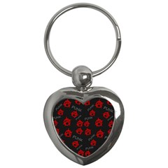 Anarchy Pattern Key Chains (heart)  by Valentinaart