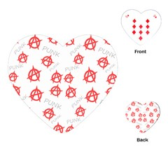 Punk Pattern Playing Cards (heart)  by Valentinaart