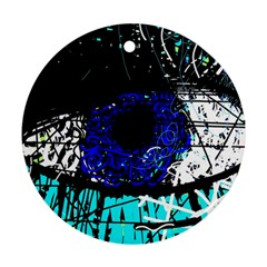 Blue Eye Ornament (round) by Valentinaart