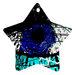 Blue Eye Star Ornament (two Sides) by Valentinaart