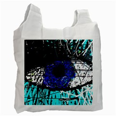 Blue Eye Recycle Bag (two Side)  by Valentinaart