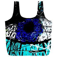 Blue Eye Full Print Recycle Bags (l)  by Valentinaart