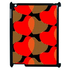 Heart Pattern Apple Ipad 2 Case (black) by Nexatart