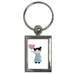 Valentines Day Girl Key Chains (rectangle)  by Valentinaart