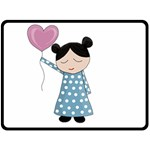 Valentines day girl Fleece Blanket (Large)  80 x60 Blanket Front