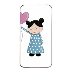 Valentines Day Girl Apple Iphone 4/4s Seamless Case (black) by Valentinaart