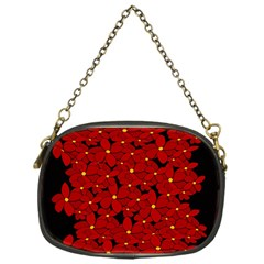 Red Bouquet  Chain Purses (one Side)  by Valentinaart
