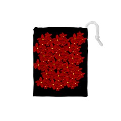 Red Bouquet  Drawstring Pouches (small)  by Valentinaart