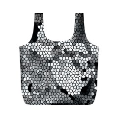 Mosaic Stones Glass Pattern Full Print Recycle Bags (m)  by Nexatart