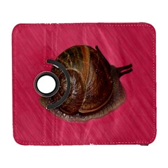 Snail Pink Background Galaxy S3 (flip/folio) by Nexatart