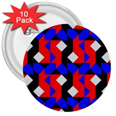 Pattern Abstract Artwork 3  Buttons (10 Pack)  by Nexatart