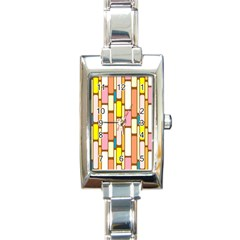 Retro Blocks Rectangle Italian Charm Watch