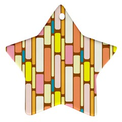 Retro Blocks Star Ornament (two Sides)