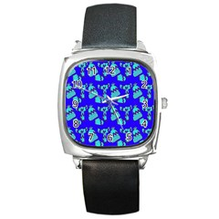Winter Square Metal Watch by Nexatart