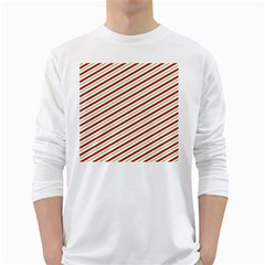 Stripes White Long Sleeve T-shirts by Nexatart