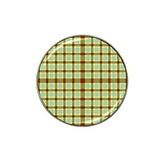 Geometric Tartan Pattern Square Hat Clip Ball Marker (4 Pack) by Nexatart