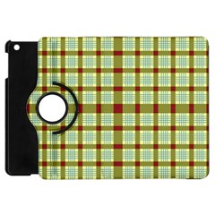 Geometric Tartan Pattern Square Apple Ipad Mini Flip 360 Case