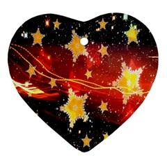 Holiday Space Ornament (heart) by Nexatart