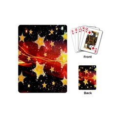 Holiday Space Playing Cards (mini)  by Nexatart