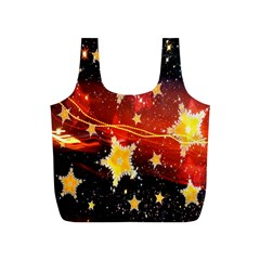 Holiday Space Full Print Recycle Bags (s)  by Nexatart