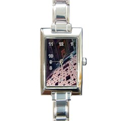 Industry Fractals Geometry Graphic Rectangle Italian Charm Watch by Nexatart
