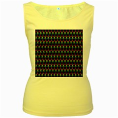 Honeycomb Fractal Art Women s Yellow Tank Top by Nexatart