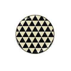 Triangle3 Black Marble & Beige Linen Hat Clip Ball Marker (10 Pack) by trendistuff
