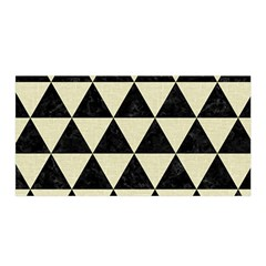 Triangle3 Black Marble & Beige Linen Satin Wrap by trendistuff