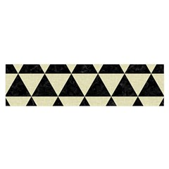 Triangle3 Black Marble & Beige Linen Satin Scarf (oblong) by trendistuff