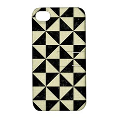 Triangle1 Black Marble & Beige Linen Apple Iphone 4/4s Hardshell Case With Stand by trendistuff