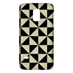 Triangle1 Black Marble & Beige Linen Samsung Galaxy S5 Mini Hardshell Case  by trendistuff