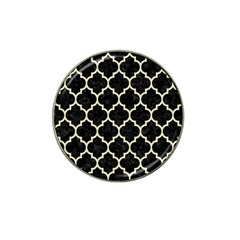Tile1 Black Marble & Beige Linen Hat Clip Ball Marker (4 Pack) by trendistuff