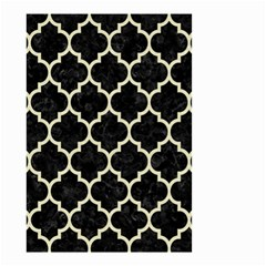 Tile1 Black Marble & Beige Linen Small Garden Flag (two Sides) by trendistuff