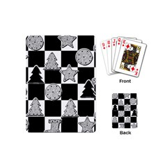 Xmas Checker Playing Cards (mini)