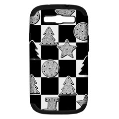 Xmas Checker Samsung Galaxy S Iii Hardshell Case (pc+silicone) by Nexatart