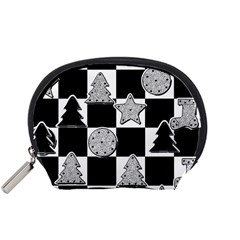 Xmas Checker Accessory Pouches (small)  by Nexatart