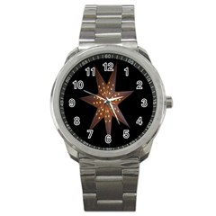 Star Light Decoration Atmosphere Sport Metal Watch by Nexatart
