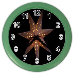 Star Light Decoration Atmosphere Color Wall Clocks by Nexatart