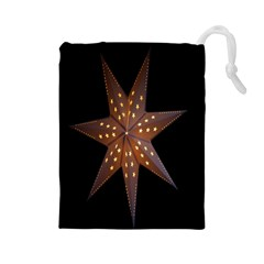 Star Light Decoration Atmosphere Drawstring Pouches (large)  by Nexatart