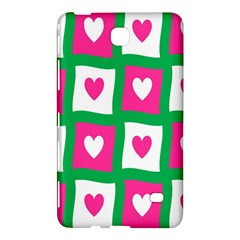 Pink Hearts Valentine Love Checks Samsung Galaxy Tab 4 (8 ) Hardshell Case  by Nexatart