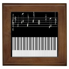 Piano Keyboard With Notes Vector Framed Tiles by Nexatart