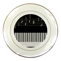 Piano Keyboard With Notes Vector Porcelain Plates